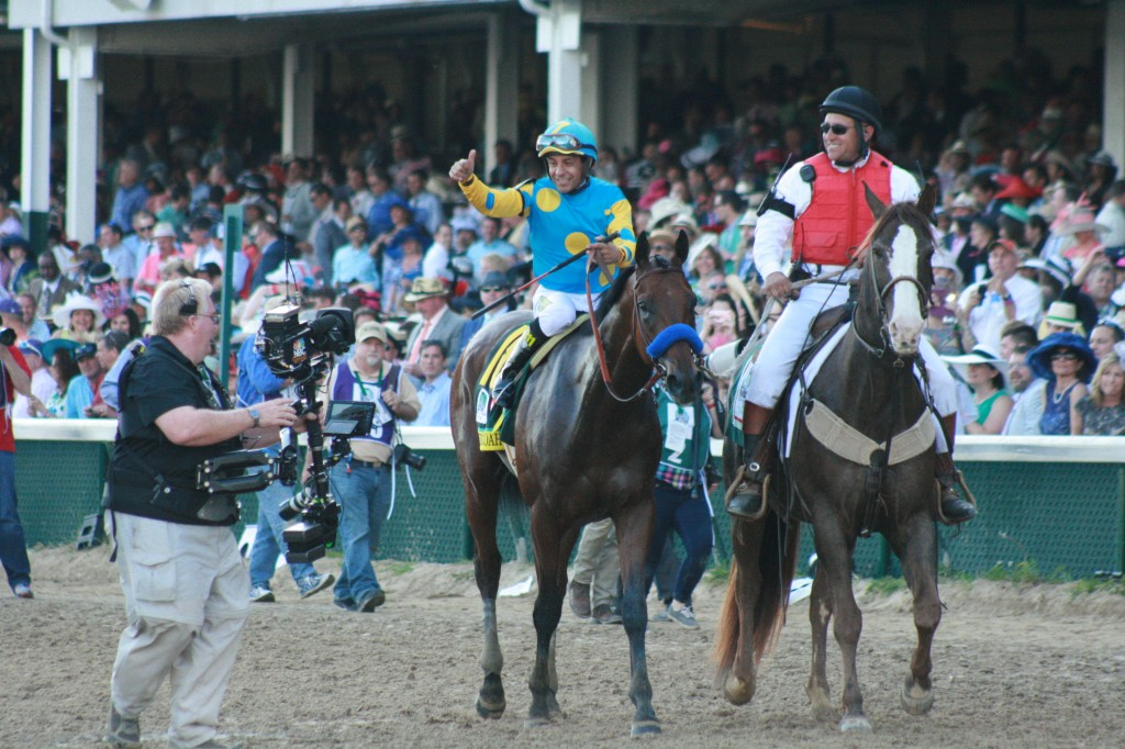 American Pharoah and jockey Victor Espinoza have developed many followers with their success across the country