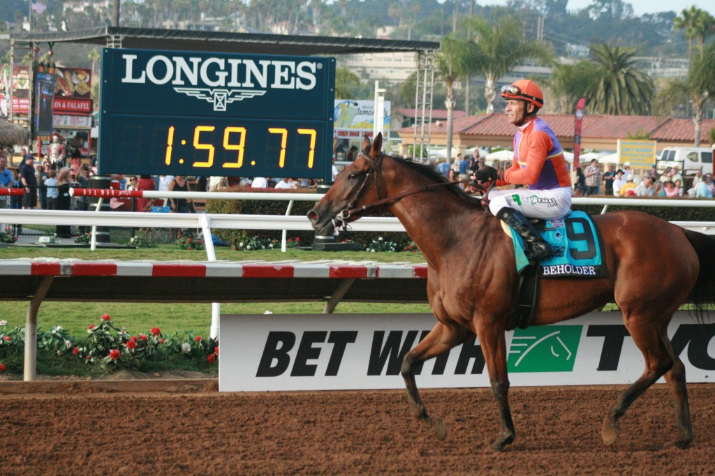 Beholder gets our vote for number 1 in this week's NTRA poll because of that sizzling time she turned in during her Pacific Classic win